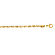 Load image into Gallery viewer, 14K Gold 6mm Diamond Cut Royal Rope Chain