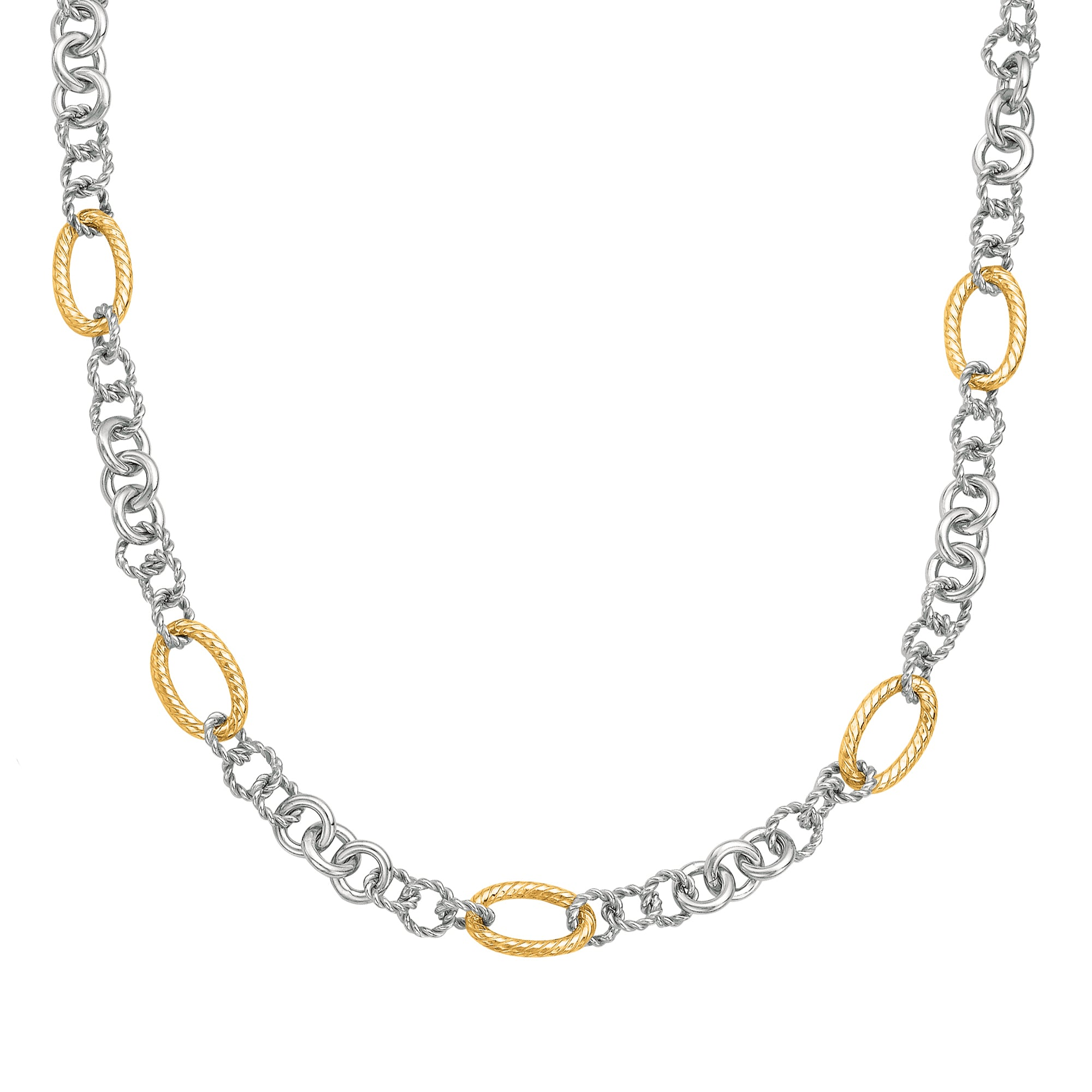 Phillip Gavriel 18K Yellow Gold & Sterling Silver Necklace