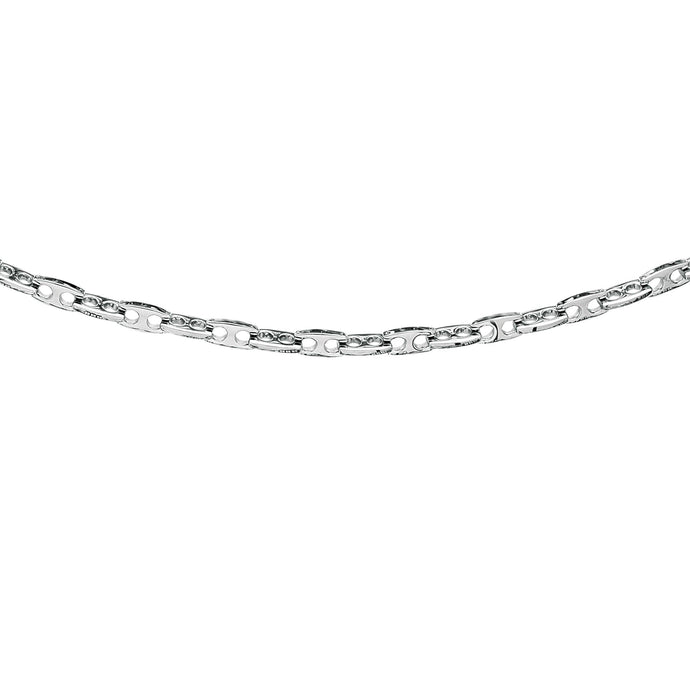 Stainless Steel Puffed Mariner Necklace