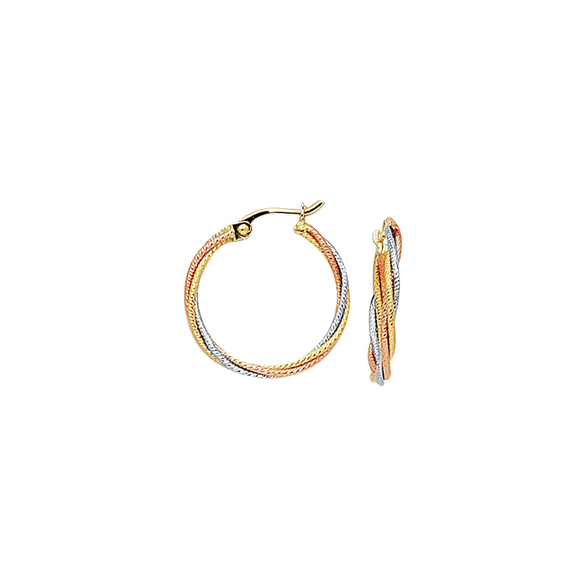10K Gold Twist Hoop Earring