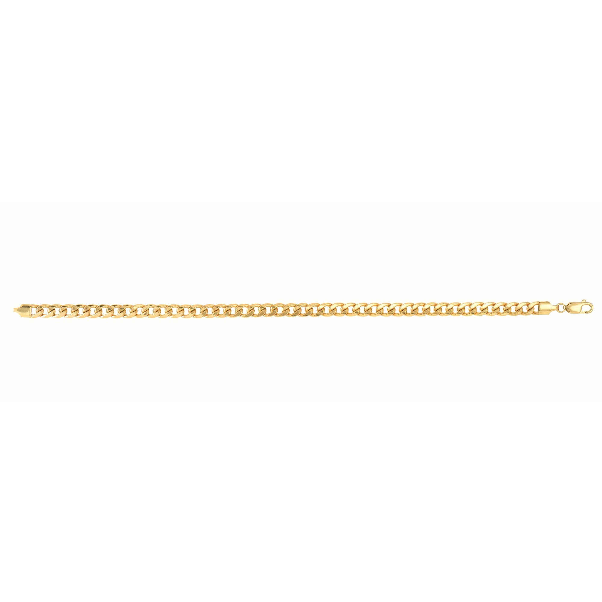 10K Gold 4.5mm Semi-Solid Miami Cuban