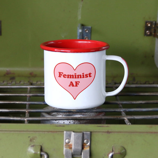 Feminist AF Cute and Girly Feminist Camp Mug
