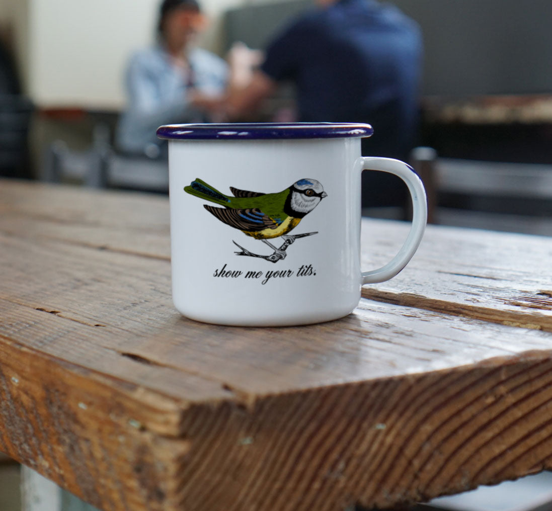 Show Me Your Tits - Rude Birdwatcher Camp Mug