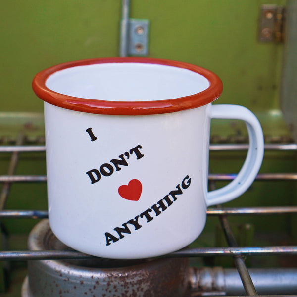 I Don't Love Anything Anti-Valentines Day Camp Mug