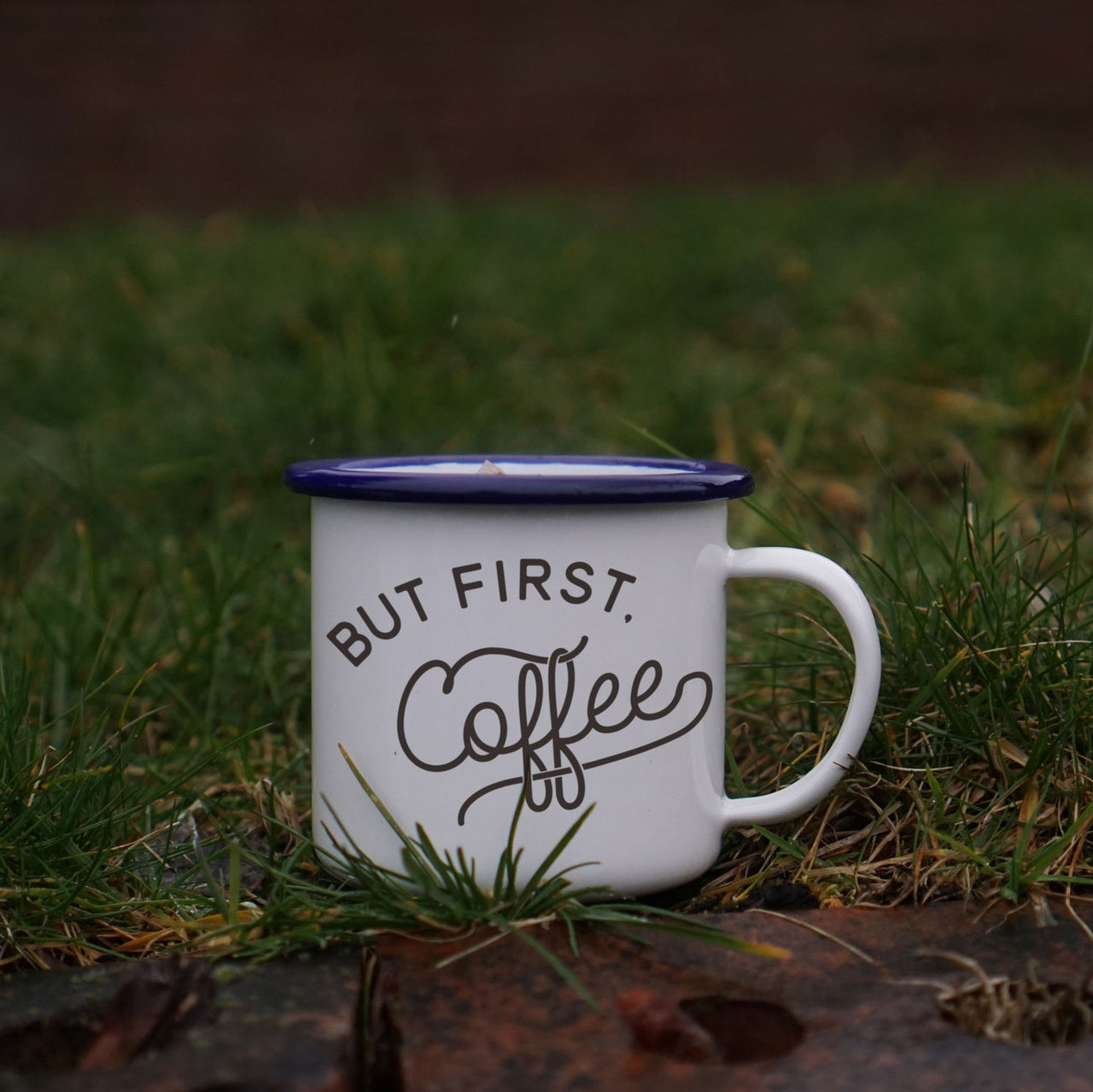 But First, Coffee: Enamel Coffee Mug for Coffee Lovers (and Camping!)-Enamel Co.