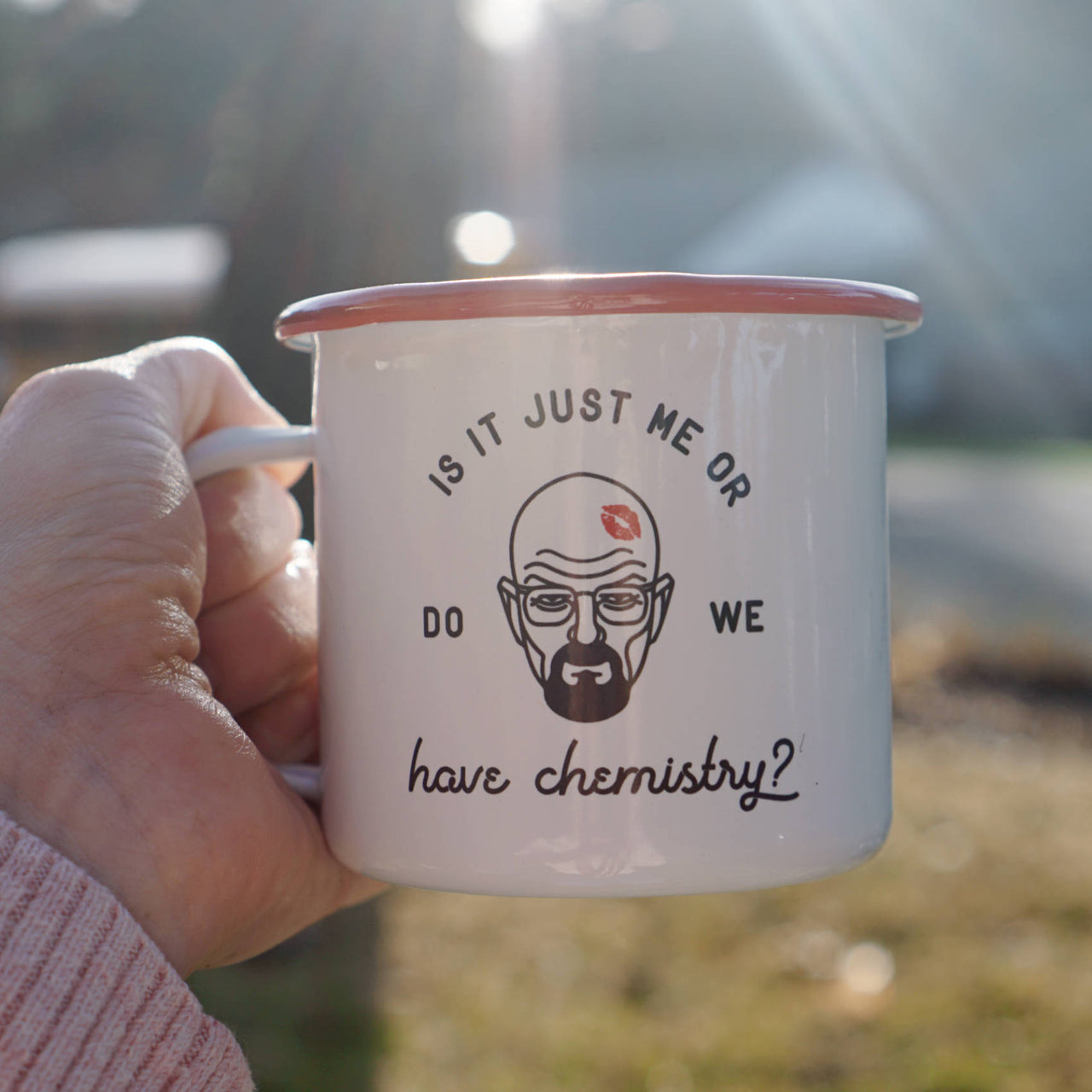 Romantic Walter White Mug - Is it Just Me or Do We Have Chemistry? Camp Mug