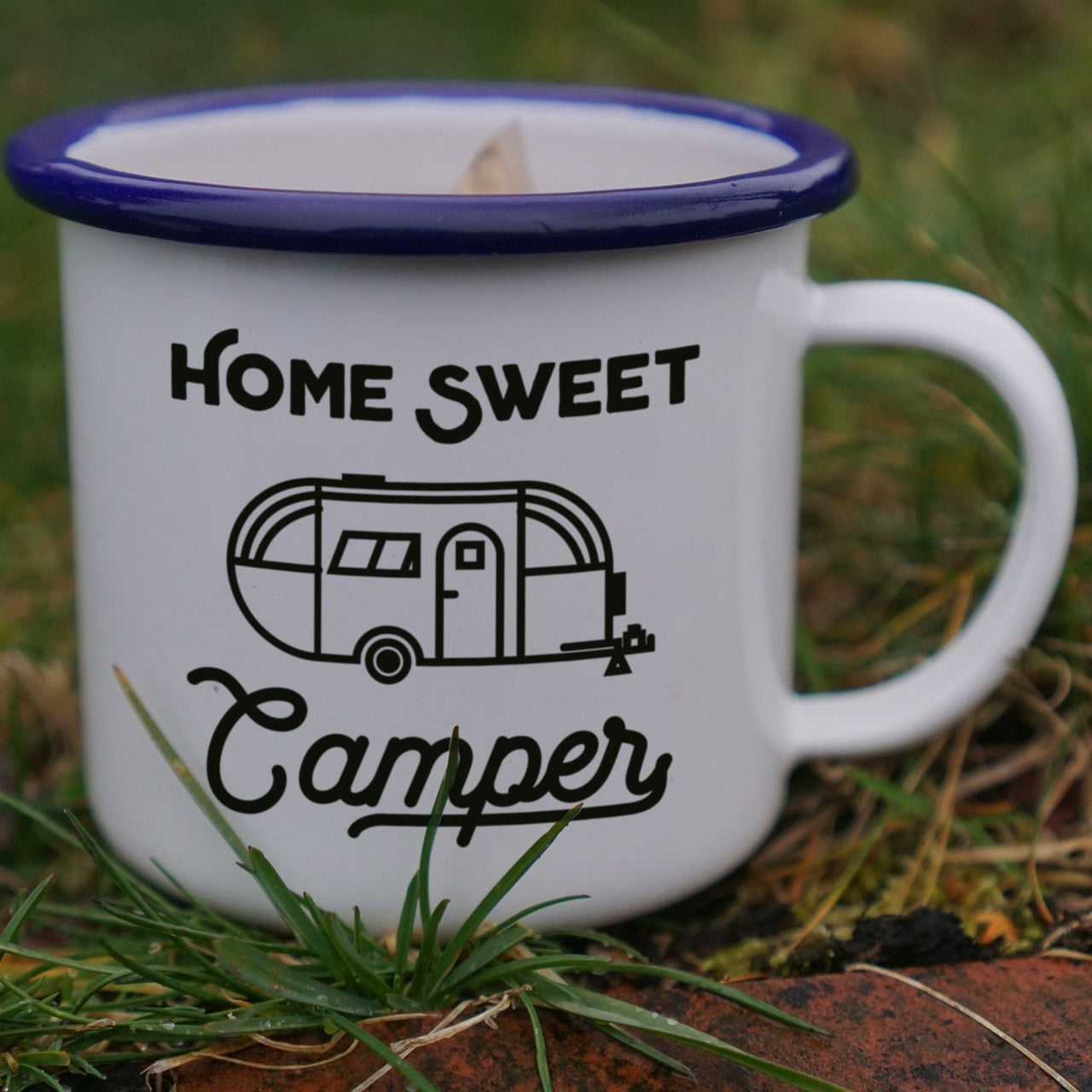 Fun and Retro Home Sweet Camper Enamel Camping Mug-Enamel Co.