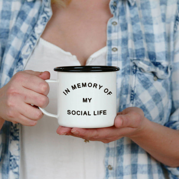 In Memory of my Social Life Camping Mug