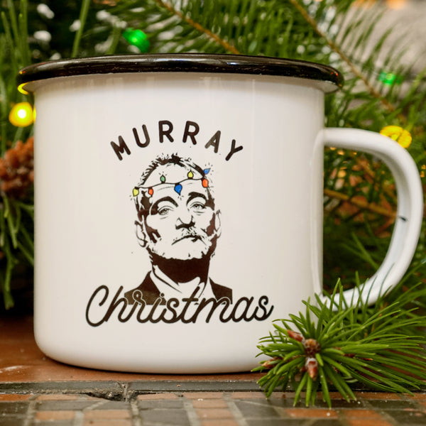 """Murray Christmas"" Bill Murray Love Holiday Camping Mug"