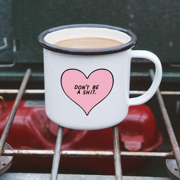 Rude Kawaii Heart Mug - Don't Be a Shit