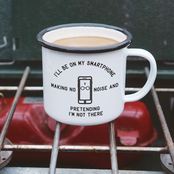 Harry Potter Camping Mug: I'll Be On My Smartphone, Pretending I'm Not There