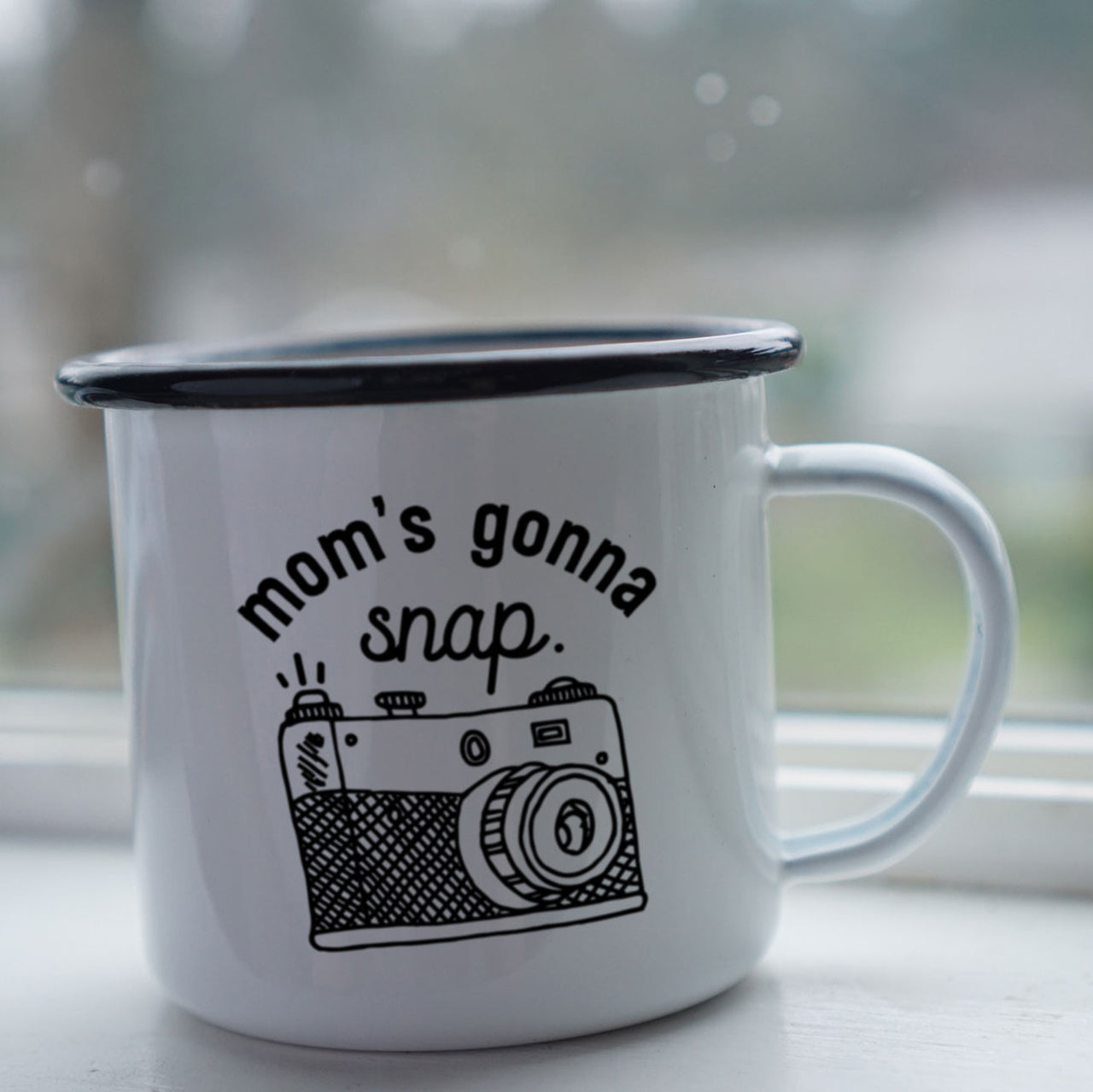 Mom's Gonna Snap: Cute and Funny Mom's Mug for Mother's Day-Enamel Co.