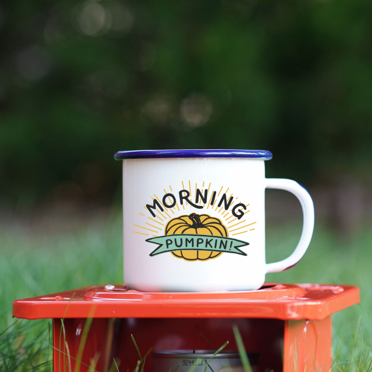 Morning Pumpkin Cute Fall Pumpkin Camping Mug