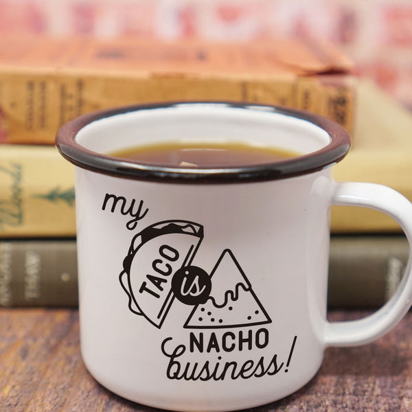 Reproductive Rights Feminist Mug - My Taco is Nacho Business