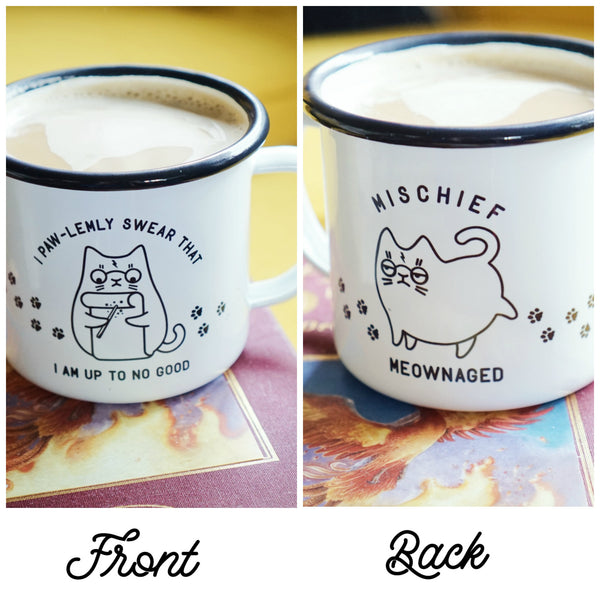 Solemnly Swear Mug - Funny Cat Harry Potter Mug - I Pawlemly Swear