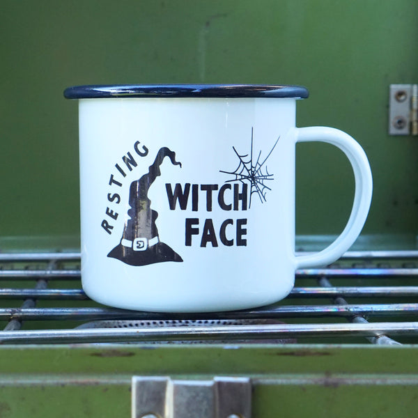 Resting Witch Face Witchy Halloween Camp Mug