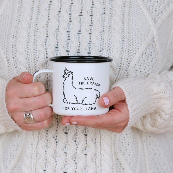 Save the Drama for your Llama - Funny Llama Camping Mug