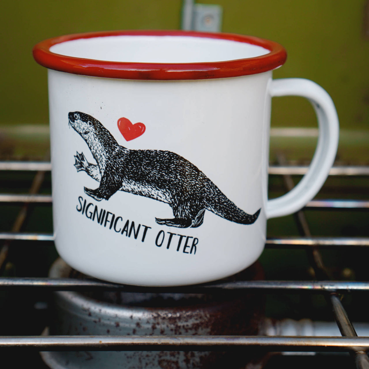 Significant Otter - Cute Couples Camping Mug