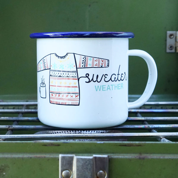 Sweater Weather Cozy Fall Camp Mug