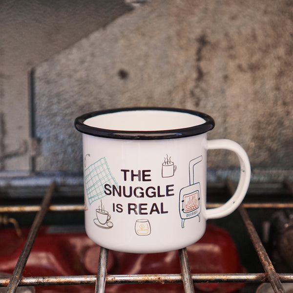 "The Snuggle is Real - Cute Fall ""Hygge"" Camp Mug"
