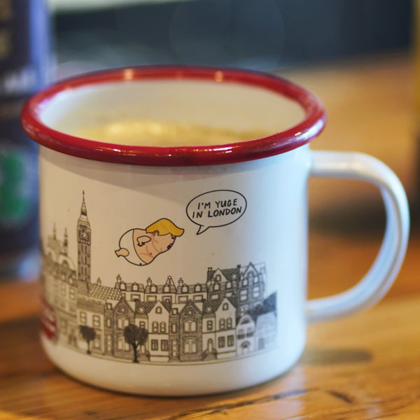 Limited Edition Mug: Majestic Baby Trump Balloon Flies over London