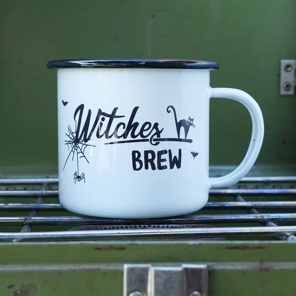 Witches Brew - Witchy Halloween Enamel Camp Mug