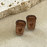 Wooden Coffee cup stud