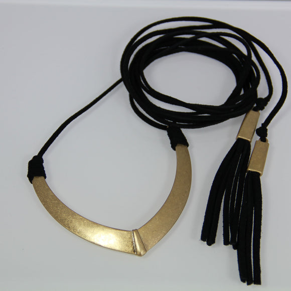 Leather neck wrap