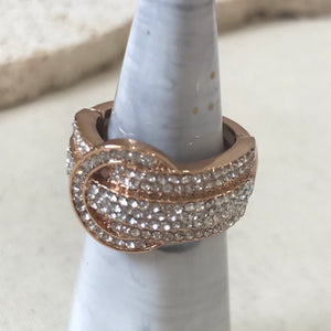 Buckle crystal ring