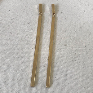 Evelyn silver and gold earrings