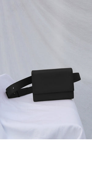 3-Way Leather Bag in Black