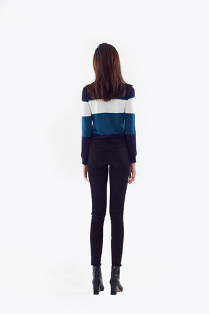 colorblock knit
