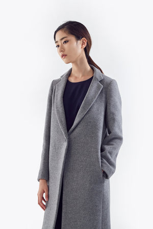 gray wool coat