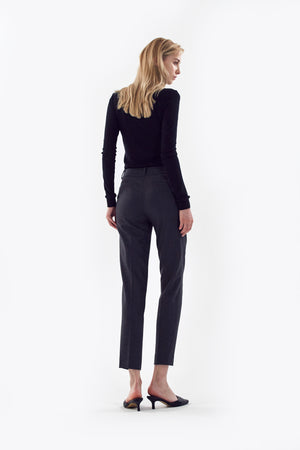 slim wool pants