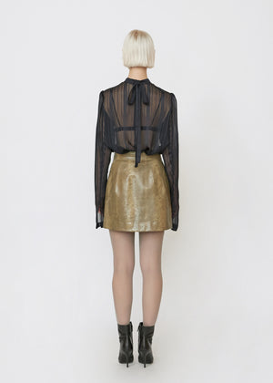Snakeskin Embossed Skirt