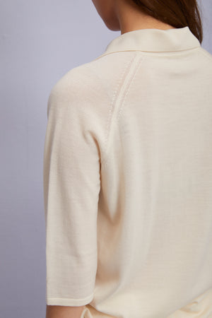 Ivory Cashmere Blend Pullover