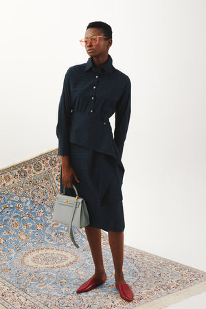 Shirting Dress in Navy