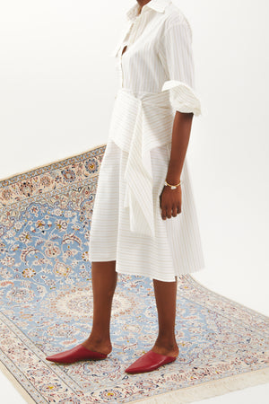 Shirting Dress in White