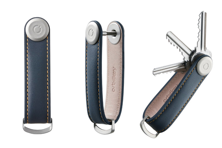 Navy Leather OrbitKey