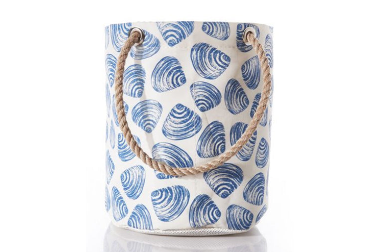 Recycled Sail Cloth Clamshell Beachcomber Bucket Bag
