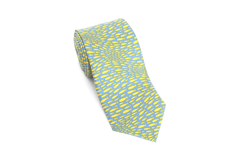 School of Fish Silk Necktie