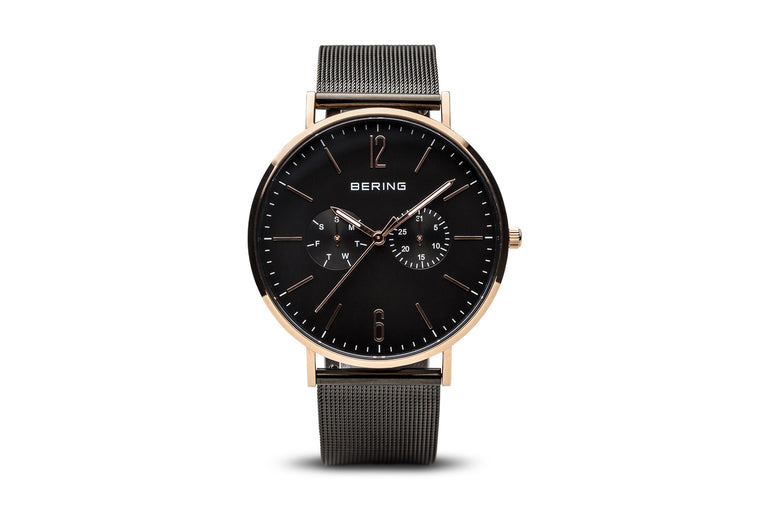 Classic Polished Rose Gold Watch - Bering