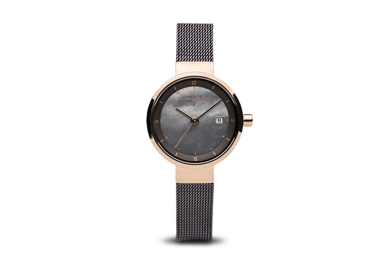 Solar- Polished Rose Gold Watch - Bering