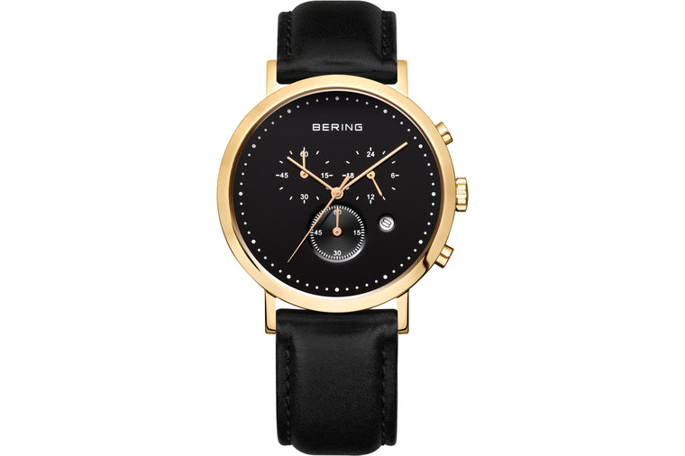 Polished Gold Watch - Bering