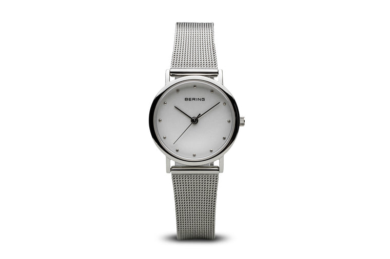 Classic Polished Silver Watch - Bering