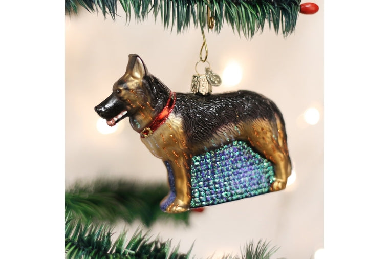 Old World Christmas - German Shepherd Ornament