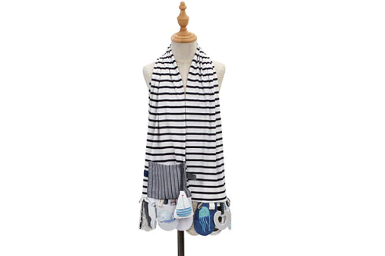 Mommy & Me Blue Activity Scarf