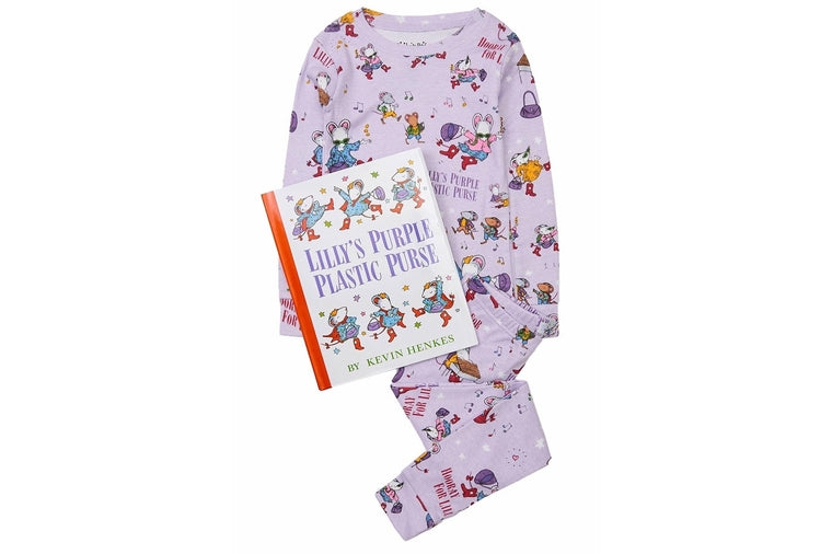 Lilly's Purple Plastic Purse Book and Pajama Set