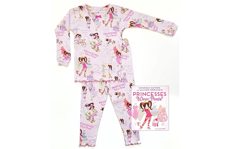 Princesses Wear Pants Book and Pajama Set