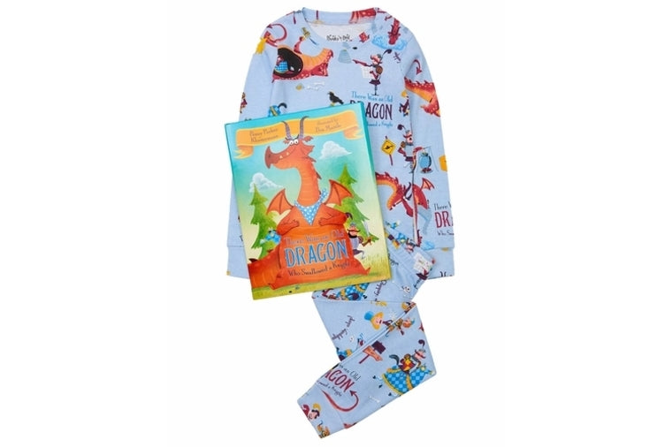 The Was An Old Dragon Who Swallowed A Knight Book and Pajama Set